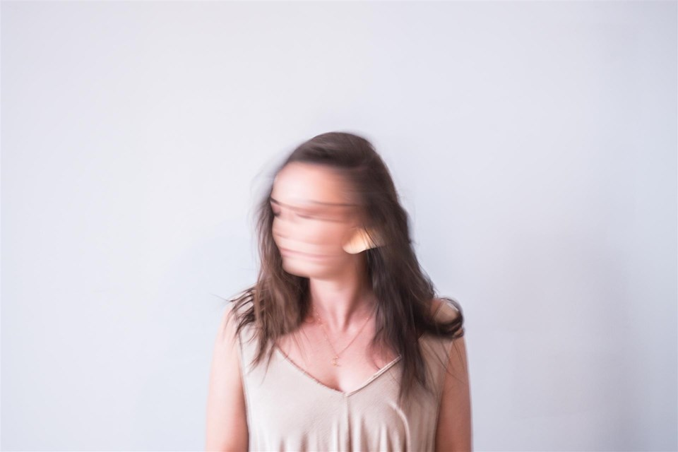blurred woman face