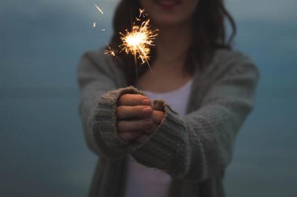 woman sparkler